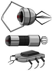 Three designs of nanobots