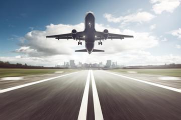 Foto op Canvas Vliegtuig Airplane Landing