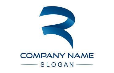 letter r ribbon logo