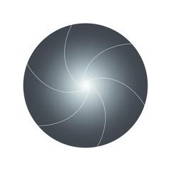 Vector illustration  shutter camera gradient