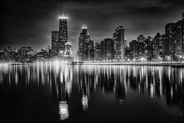 Photo sur Toile Chicago Chicago Reflections