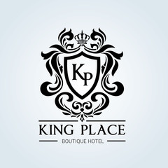 Hotel and luxury logo template. Royal and king logo design template.