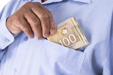 Canadian dollar banknotes