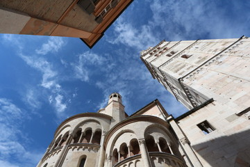 Modena, Italy, word heritage site, cathedral and Ghirlandina details