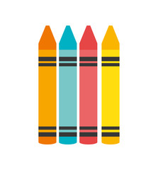 cartoon crayons colors graphic isolated vector illustration eps 10