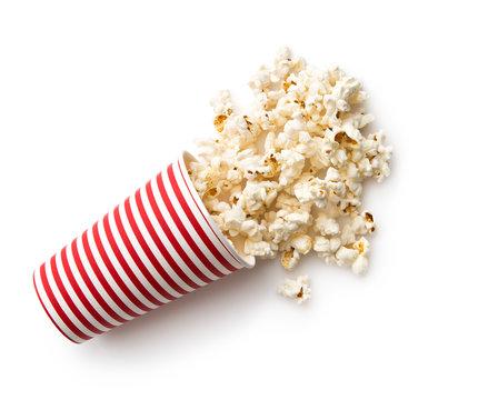 Tasty salted popcorn.