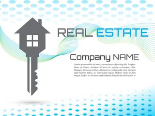 Key House Vector, creative business card blue
