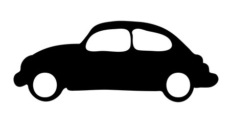 silhouette car vector symbol icon design.