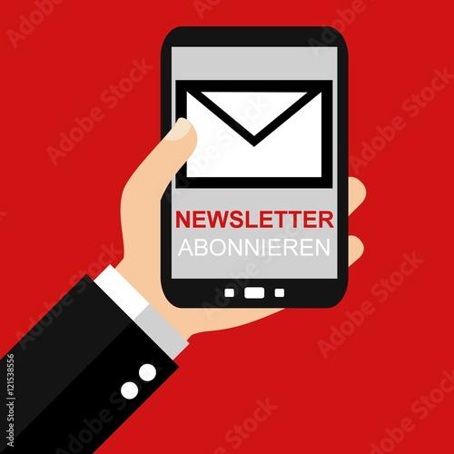 """Verhüten Mit Dem Smartphone: """"Newsletter Abonnieren Mit Dem Smartphone"""" Stockfotos Und"""