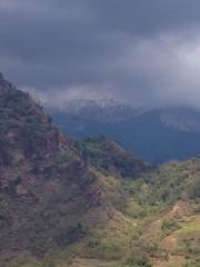 Beautiful view of the Himalayan mountains when see from Tatopani