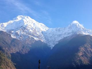 Annapurna, Machapuchare, mountain from Chhomrong village, Ghandruk, Nepal