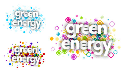 green energy color banners