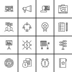 Set Of Project Management Icons On Statistics, Money Revenue, Cash Flow And More. Premium Quality EPS10 Vector Illustration For Mobile, App, UI Design.