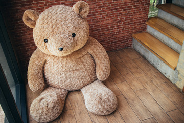 Big Teddy bear a stuffed toy bear