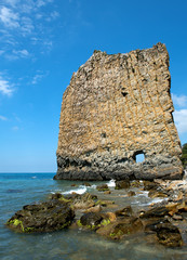 Parus Rock (Sail Rock) at the Black Sea, Russia