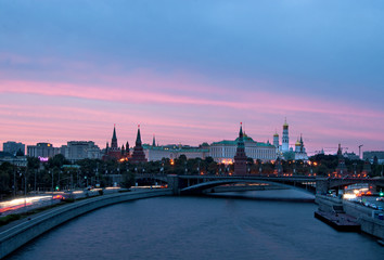 Moscow Kremlin at sunset, Russia