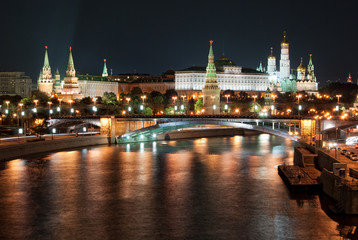 Moscow Kremlin by Night, Russia