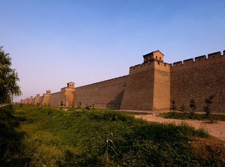 Ancient city wall of Pingjao, China