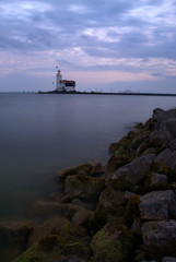 White Horse lighthouse of Marken at sunset, The Netherlands