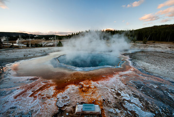 Crested Pool Hotspring in Yellowstone NP, USA