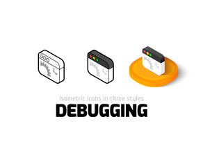 Debugging icon in different style