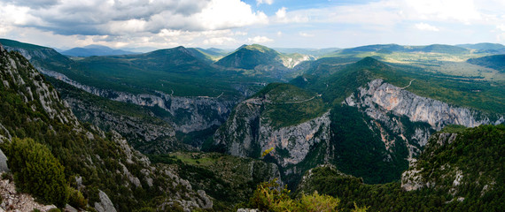 Panoramic view of the Gorges du Verdon, France