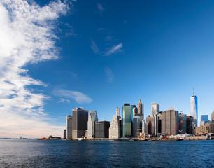 Financial district of Manhattan, New York, USA