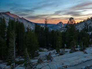 Sunset in Yosemite National Park, USA