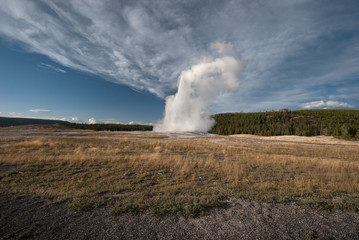 Eruption of the Old Faithfull Geyser, Yellowstone NP, USA