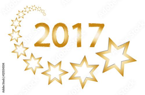 Weihnachten neujahr silvester 2017 goldene jahreszahl mit sternen stock image and royalty - Cliparts weihnachten und neujahr kostenlos ...