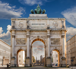 Siegestor in München an der Leopoldstraße Hochauflösend hd 4k