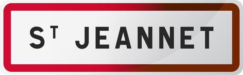 Panneau Saint Jeannet - Alpes-Maritimes (06) - Région PACA