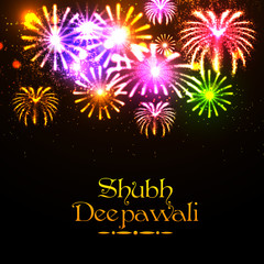 Shubh Deepawali celebration fireworks background.