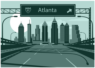 Wall Mural - Atlanta skyline
