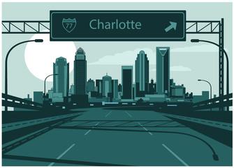 Wall Mural - Charlotte skyline