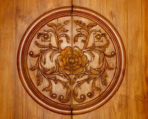 Indian design background, wood craft, carving
