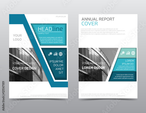 Annual Report Layout Brochure Template Magazine Cover Modern