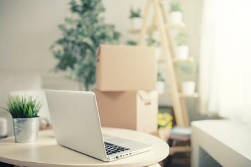 workspace computer in home or studio or studio