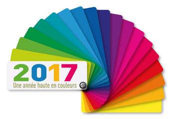 2017 - Carte de vœux - Nuancier