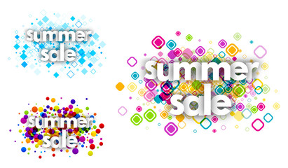 summer sale color banners