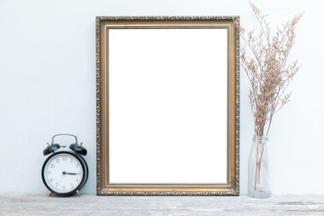 vintage frame on wall