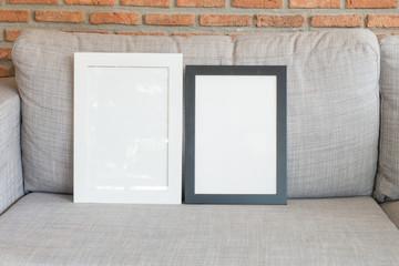 blank frames of living room