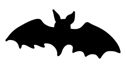 halloween creepy scary bat silhouette vector symbol icon design.