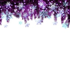Card with Christmas background.