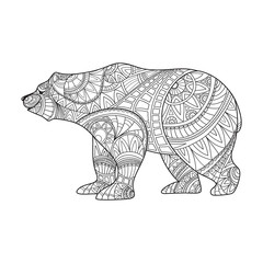 bear, animal, coloring book, coloring