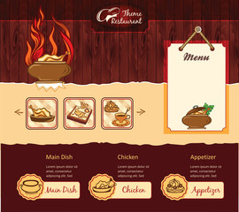 Restaurant retro template for web site