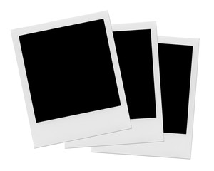 Blank polaroid photo frames.
