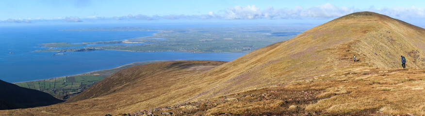 Sliabh Mis mountains overlooking Tralee Bay and Fenit, County Kerry, Ireland