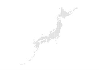 日本地図のエリアマップ (ブロック)