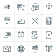 Set Of Project Management Icons On Cash Flow, Creativity, Money Revenue And More. Premium Quality EPS10 Vector Illustration For Mobile, App, UI Design.